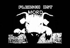 FLEISCH IST MORD Patch / Aufnäher NEU 1,20€ Punk Punkrock PETA Vegan Tierrecht