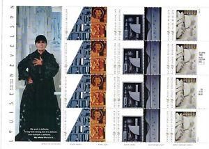 Scott 3379-83 - 33 Cent Louise Nevelson Mini Souvenir Sheet of 20 MNH