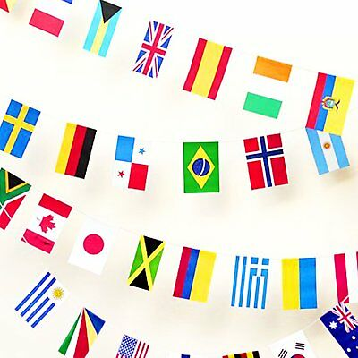 100-200 pcs Bunting Banner bar party different Countries Flags decoration 25-65M