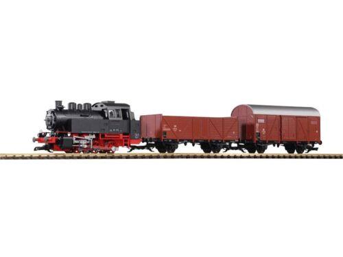 G PIKO 37120 Start-Set Güterzug BR 80 mit 2 Güterwagen und Sound+Dampf