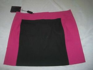 New-Covery-Nera-Fuxia-Minigonna-Jupe-Rock-Black-Pink-Skirt