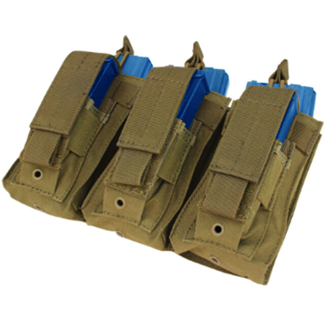 Condor MA55 Triple Kangaroo Tactical MOLLE PALS Rifle//Pistol Magazine Pouch NEW