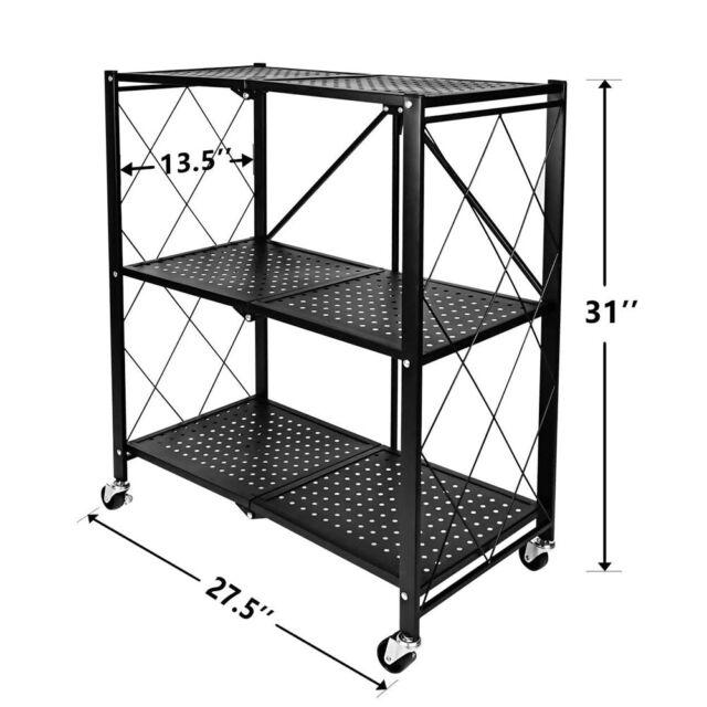 3layers Kitchen Shelves Unit Adjustable Metal Wire Shelf Rack Storage Organizer For Sale Online Ebay