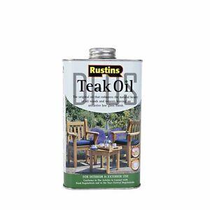 rustins teak oil 500ml indoor or outdoor benches worktops furniture