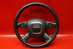 Audi-A6-4F-C6-Multifunzione-8P0419091AH-Volante-Pelle-4-Speichen-Nero-Fh