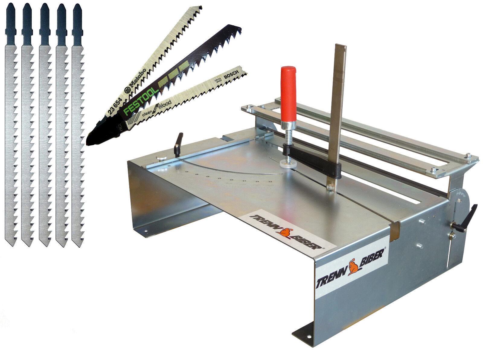 Gehrungssäge 014H + Metabo Bosch + 5 Stichsägeblätter extra lang für Stichsägen