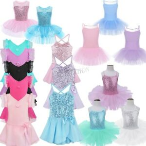 Girls-Kids-Tutu-Ballet-Leotard-Dance-Dress-Ballerina-Unitard-Dancewear-Costume