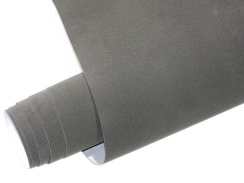 Samt Velourfolie selbstklebend Grau 100cm x 135cm VELVET Matt