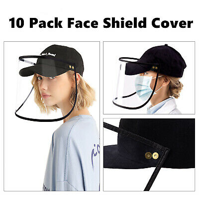 10 Piece Safety Full Face Shield Reusable Washable Protection Cover Face Mask