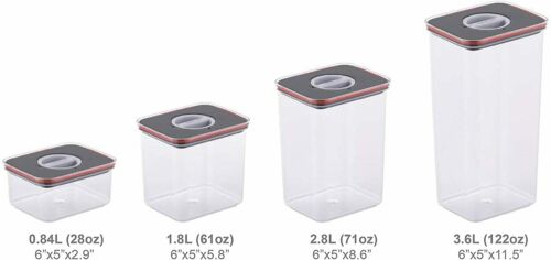 Set of 3 NEOFLAM Airtight Smart Seal Food Storage Container Modular Design