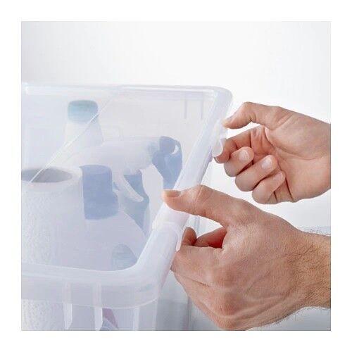 4x IKEA SAMLA clips locks for box lid 5//11//22L Litre transparent clear 5L 11L