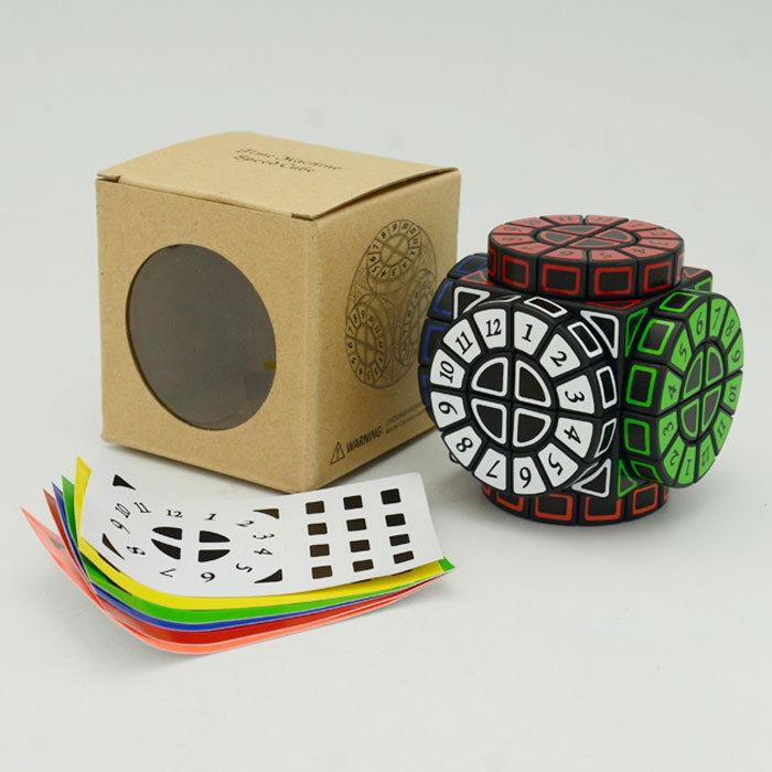 SMAZタイムマシンマジックキューブ非常にパズルまれなおもちゃブラック手作りツイストパズル