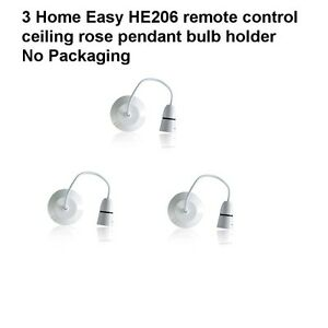 6 home easy he206 remote control ceiling rose pendant bulb holder no image is loading 6 home easy he206 remote control ceiling rose aloadofball Image collections