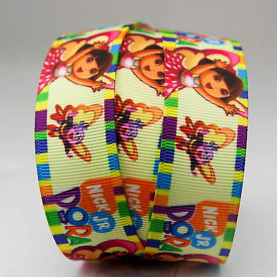 "7/8"" 22mm Dora & Honeybee Grosgrain Ribbon Craft Hairbow bow 5YD"