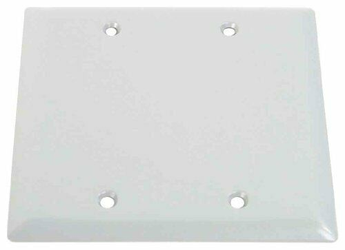 White Made in USA Electrical Box Outlet Cover