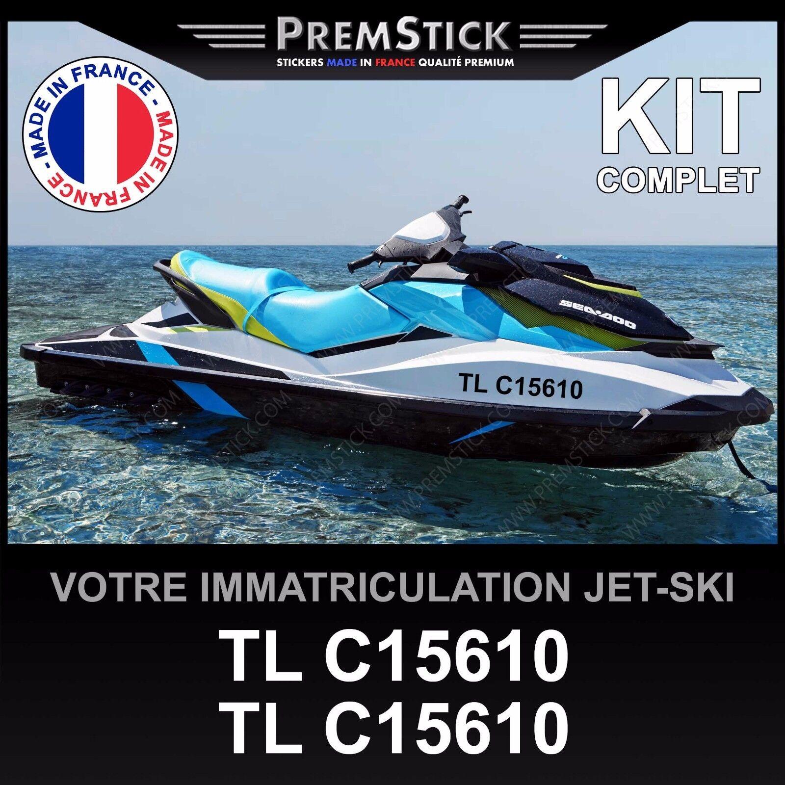 Kit Aufkleber Zulassung Jet-Ski ; selbstklebend benutzerdefiniert Jet a Bügel