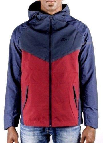 NEW Nike Tech Windrunner Jacket MENS L Crimson Navy Blue Size Large 727349 673