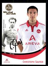 Christoph Sauter autografiada tarjeta 1 fc nuremberg 2010-11 original + a 109649