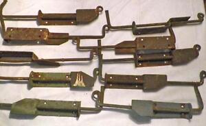 8-Antique-Iron-Shutter-Dogs-Hardware-Sheet-amp-Wrought-Blacksmith-Made
