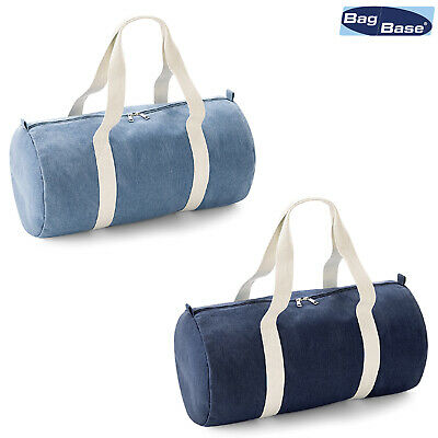 Bagbase Borsa Da Barrel In Denim Bg646- Originale Al 100%