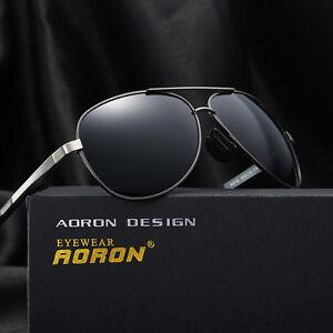 Herren-Sonnenbrille-Polarisiert-Fahren-metal-Brillen-Sport-UV-400-Pilotenbrille