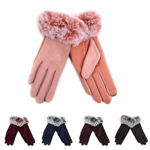 Women-039-s-Non-Slip-Grip-and-Smartphone-Accessible-Winter-Gloves-Touchscreen-Safe