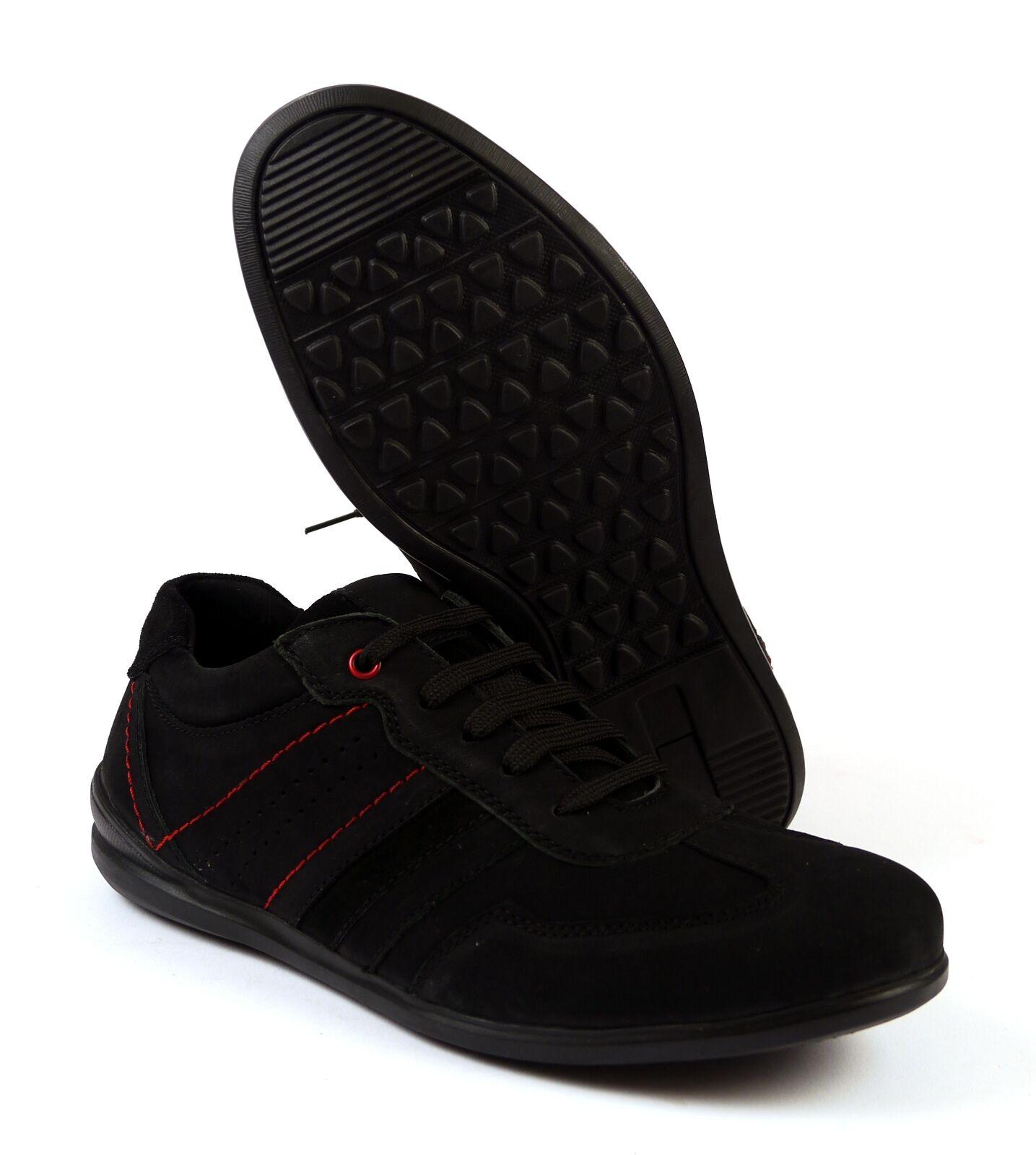 BULLDOZER 52029 sneaker in pelle uomo tgl 41 45 Nero NUOVO Scarpe classiche da uomo