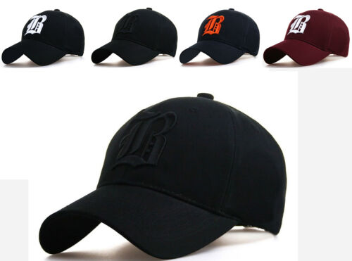 Baseball cap new cotton Mens  Women  hat letter B unisex Black hats casual hat