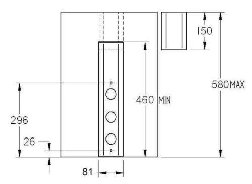 3-fach Steckdosen Edelstahl Steckdosenleiste Küche Steckdose