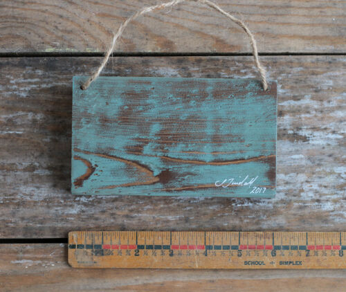 All You Need Is Love Sign Hand Painted Rustic Wood Wall Decor Teal Blue 6 in