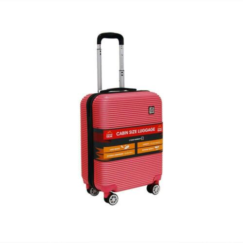 Hard Cabin Luggage 4 Wheel Spinner Carry On Trolley Hard Case Airline Travel Bag