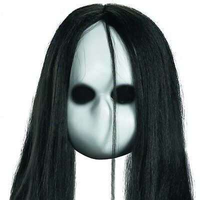 Scary Doll Costume Mask Creepy Gothic Baby Ghost Halloween Fancy Dress