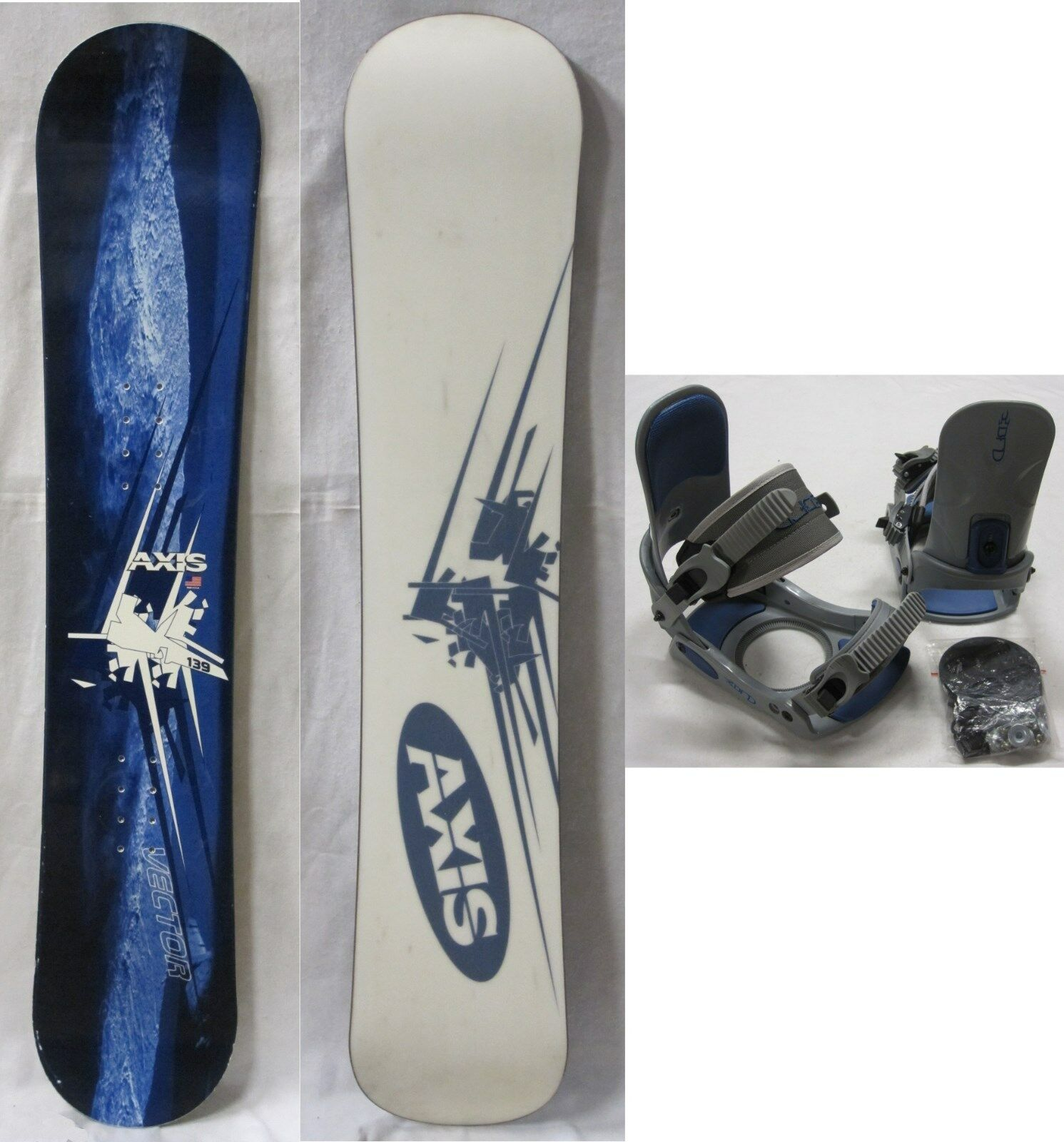 AXIS  VECTOR  139cm SNOWBOARD & New BFD Medium Large BINDINGS