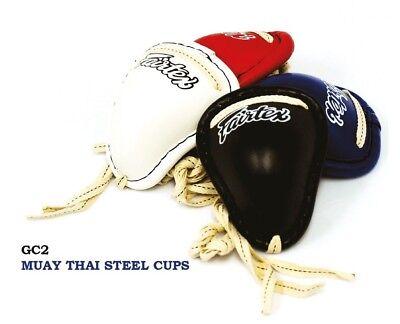 FAIRTEX GC2 GROIN GUARDS PROTECTOR CUP STEEL MUAY THAI KICKBOXING MMA