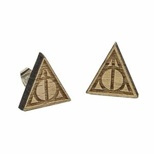 Harry-Potter-Mini-Wood-Earrings-Deathly-Hollows-Cute-Geek-Jewelry