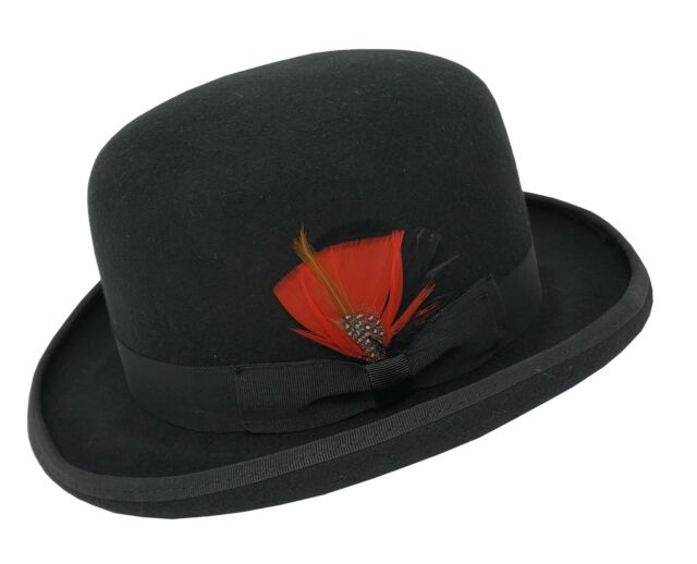 Derby Hat Fashion  Events S New Mens Ladies Wool Felt Pink Bowler
