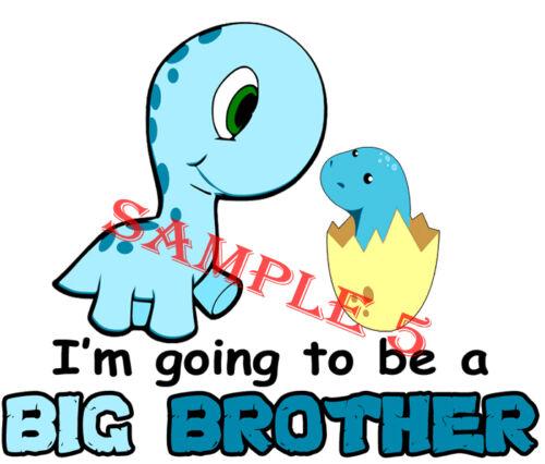 Je vais être un grand frère Iron On Transfert Pour Tissus Légers-Ref 29-20 NS