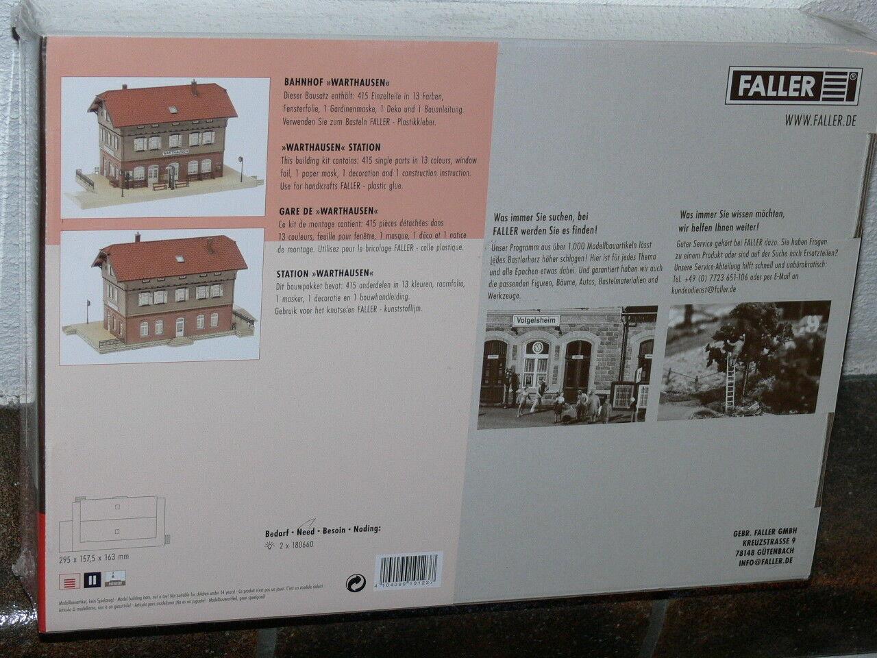 Faller - Bahnhof Warthausen - 1 87 H0 - - - Nr. 110123 - Neu&Ovp -    Niedriger Preis  c01107