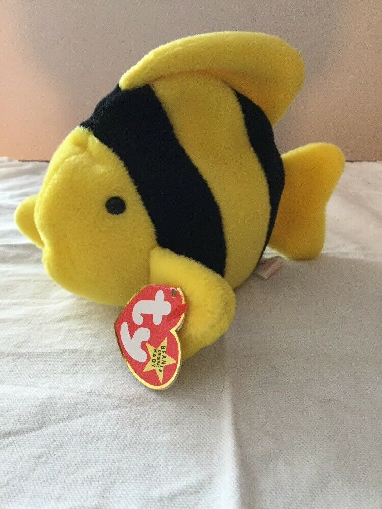Ty Beanie Baby Bubble The Retired Fish With Tags