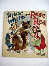 Vintage Children's Book Snow White & Rose Red Pics & Verse by Frances Brundage *