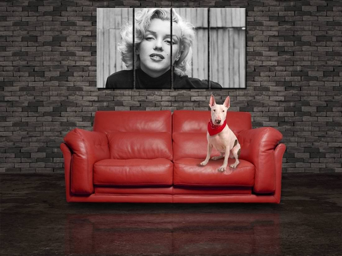 Marilyn Monroe CANVAS PRINT Panels Wall Giclee Tiles Strips Poster CP07