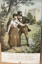 Irish Postcard KISS THE RA'AL BLARNEY STONE Castle Verse Brogue Cork Ireland
