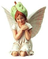 Retired White Binweed Fairy Ornament Cicely Mary Barker Miniature Garden