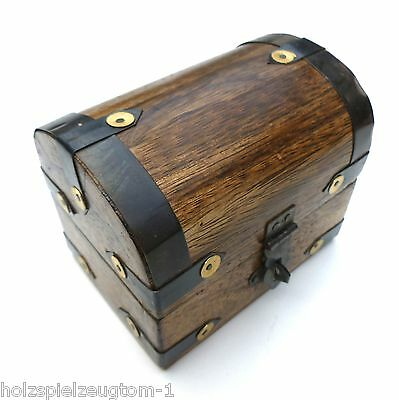 2 Wahl Schatzkiste Schatztruhe Truhe Holztruhe Holzbox Box 15x12x13 cm