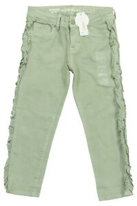 Gymboree Girls Army Green Ruffled Side Skinny Jeans Various Sizes