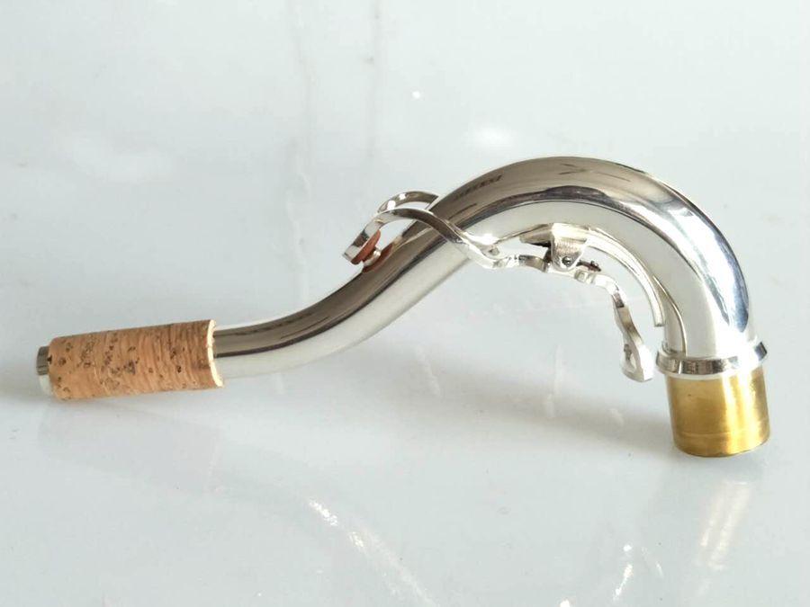 Melodía cuello de saxofón profesional C Plata Plata Plata Chapado partes del cuerpo Saxo 24.0 mm df2056