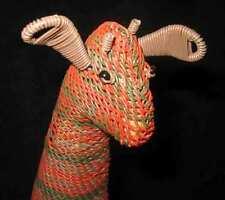 Handmade African Zulu Telephone Wire Basket - Giraffe - KWANZAA Gift (Zawadi)