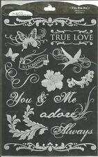 Colorbok Nocturne Foil Rub-Ons 14 Romance Accents
