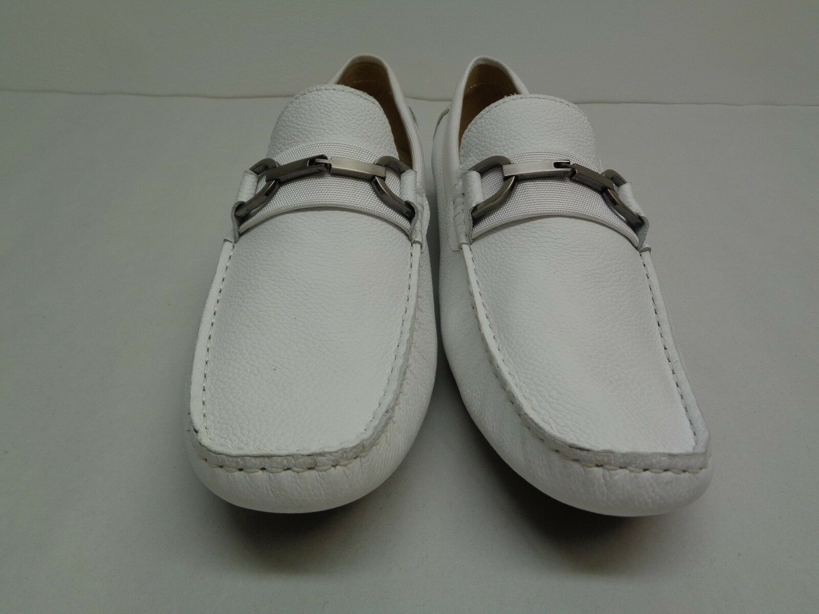 Kenneth Cole Reaction Größe 7 SOUND-S GOOD Weiß Uomo Leder Loafers New  Uomo Weiß Schuhes e00ebc