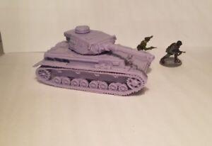 1-72-1-100-1-200-Panzer-IV-4-75mm-x2-Scale-3d-Printed-WW-II-Model-Tank
